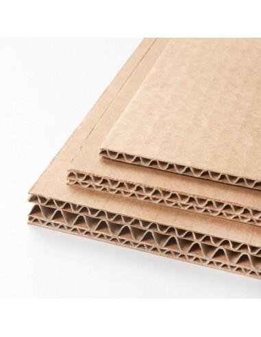 Cartón ondulado de capas